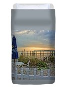 Morning By The Bay Duvet Cover