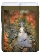 Morning By The Creek Duvet Cover