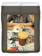 Morning Coffee Duvet Cover
