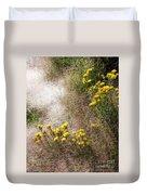Morning Dew At Pendleton Park Duvet Cover