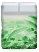Morning Dew Drops Duvet Cover by Irina Sztukowski