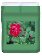 Morning Dew On A Rose Duvet Cover