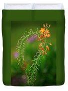 Morning Dew On Orange Flowers Duvet Cover
