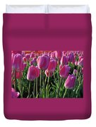 Morning Dew Tulips Duvet Cover