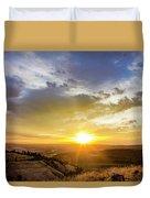 Morning Earth Rotation Duvet Cover