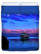 Morning Ferry Duvet Cover