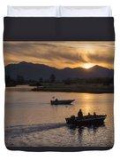Morning Fishing 4 Duvet Cover