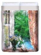Morning Flowers Duvet Cover