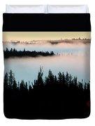 Morning Fog In Northern Saskatchewan Duvet Cover