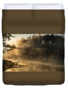 Morning Fog In The Boundary Waters Duvet Cover