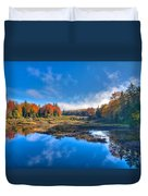 Morning Fog On The Moose River Duvet Cover