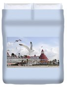 Morning Gulls On Coronado Duvet Cover