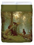 Morning In A Pine Forest Duvet Cover