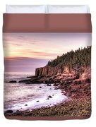 Morning In Acadia Duvet Cover