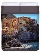 Morning In Manarola Cinque Terre Italy Duvet Cover
