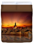 Morning In Prague Duvet Cover