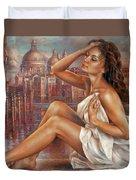 Morning In Venice Duvet Cover