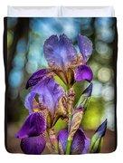 Morning Iris Duvet Cover
