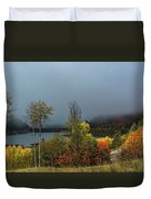 Morning Light And Fog Duvet Cover