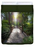 Morning Light On The Bridge Duvet Cover
