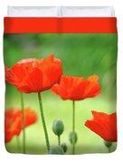 Morning Light Poppies Duvet Cover