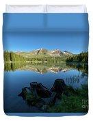 Morning Meditation - Lake Irwin Duvet Cover