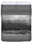 Morning Mountains In Yellowstone Duvet Cover