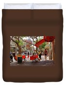 Morning On A Street In Tel Aviv Duvet Cover by Zalman Latzkovich