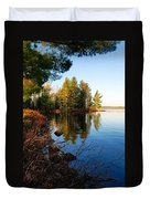 Morning On Chad Lake 4 Duvet Cover by Larry Ricker