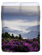 Morning On Grassy Ridge Bald Duvet Cover by Rob Travis