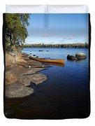 Morning On Hope Lake Duvet Cover