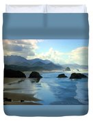 Morning On The Oregon Coast Duvet Cover