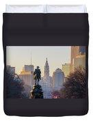 Morning On The Parkway - Philadelphia Duvet Cover