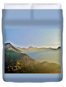 Morning Shadows In The Himalayas Duvet Cover