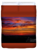 Morning Sky Over Washington D C Duvet Cover