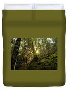 Morning Stroll In The Forest Duvet Cover