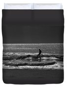 Morning Surfer Duvet Cover