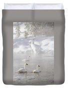 Morning Swan Trio  7845  Duvet Cover