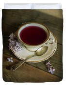 Morning Tea With Lilacs Duvet Cover