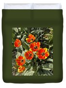 Morning Tulip Blooms    Indiana   Spring Duvet Cover