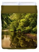 Morning Warmth Williams River  Duvet Cover