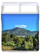 Morning View Of Albion Mountains Duvet Cover
