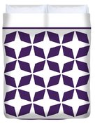 Moroccan Inlay With Border In Purple Duvet Cover