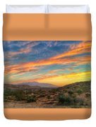 Morongo Valley Sunset Duvet Cover