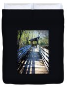Morris Bridge Boardwalk Duvet Cover