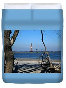 Morris Island Lighthouse Charleston Sc Duvet Cover