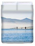 Morro Bay Paddle Boarders Duvet Cover