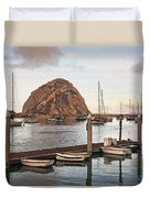 Morro Bay Small Pier Duvet Cover