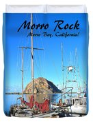 Morro Rock Morro Bay California Duvet Cover
