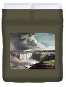Morse: Niagara Falls, 1835 Duvet Cover